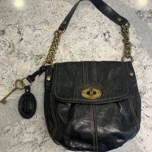 Fossil 'Long Live Vintage' leather and chain purse